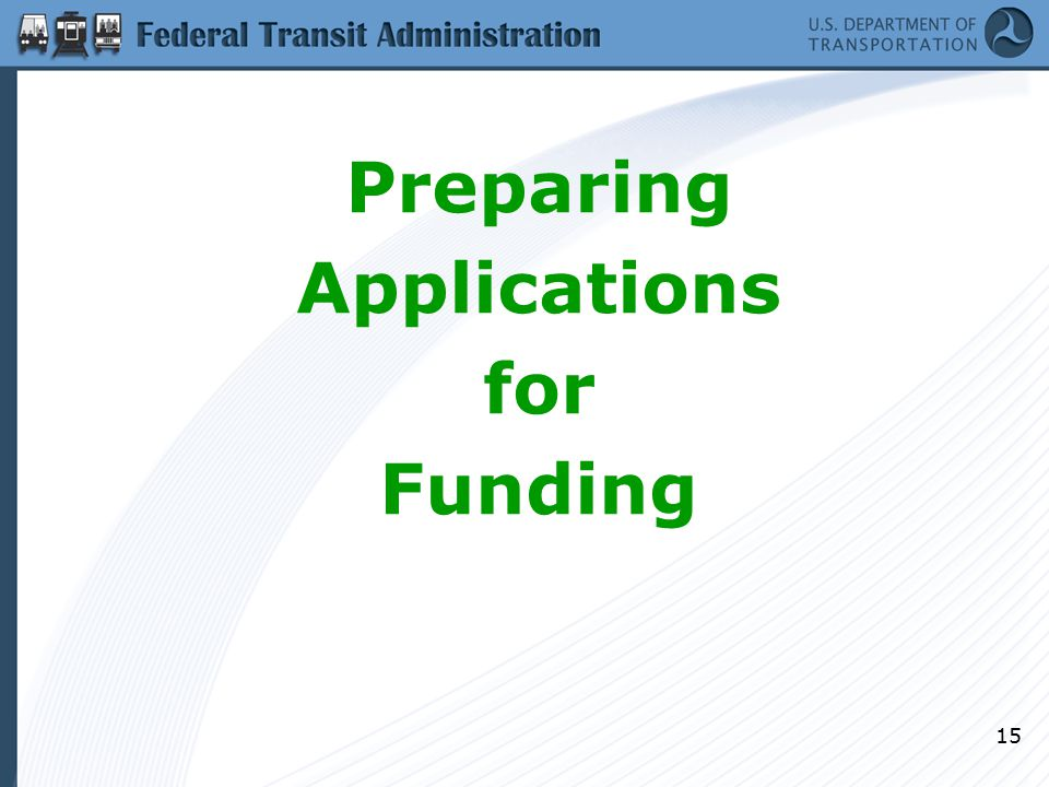 15 Preparing Applications for Funding