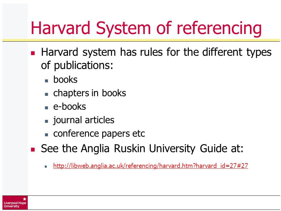 harvard referncing system