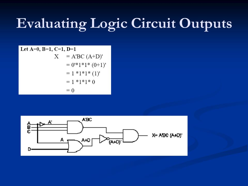 Evaluating Logic Circuit Outputs