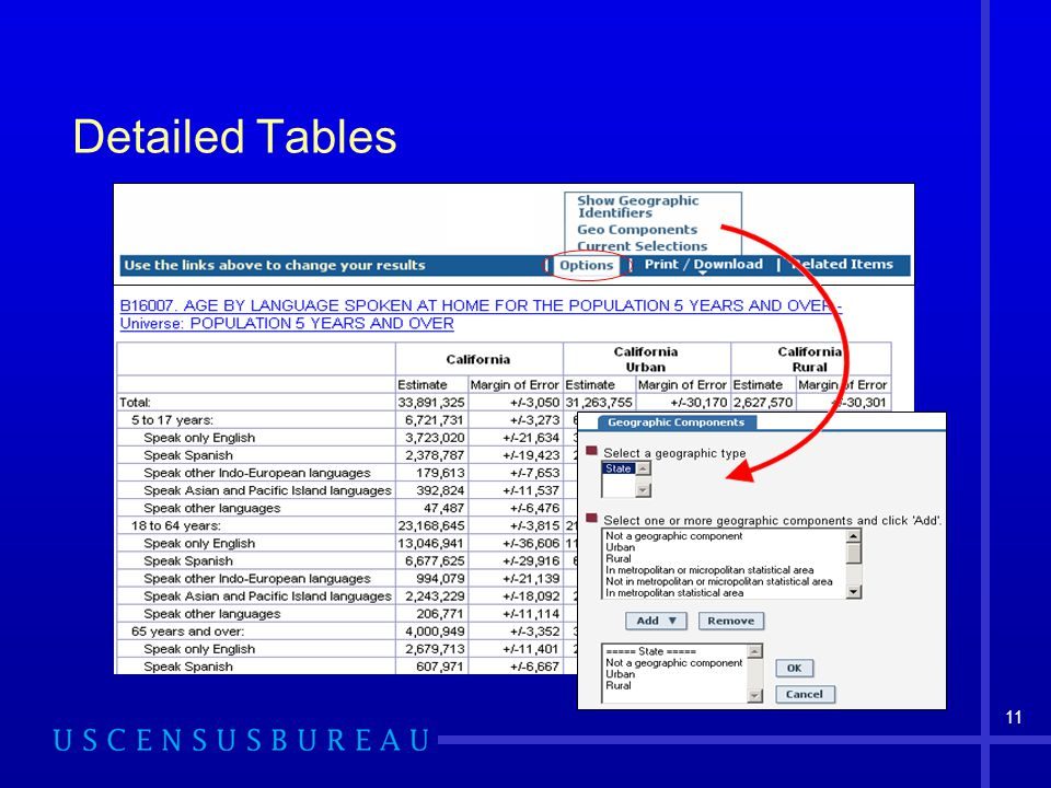 11 Detailed Tables
