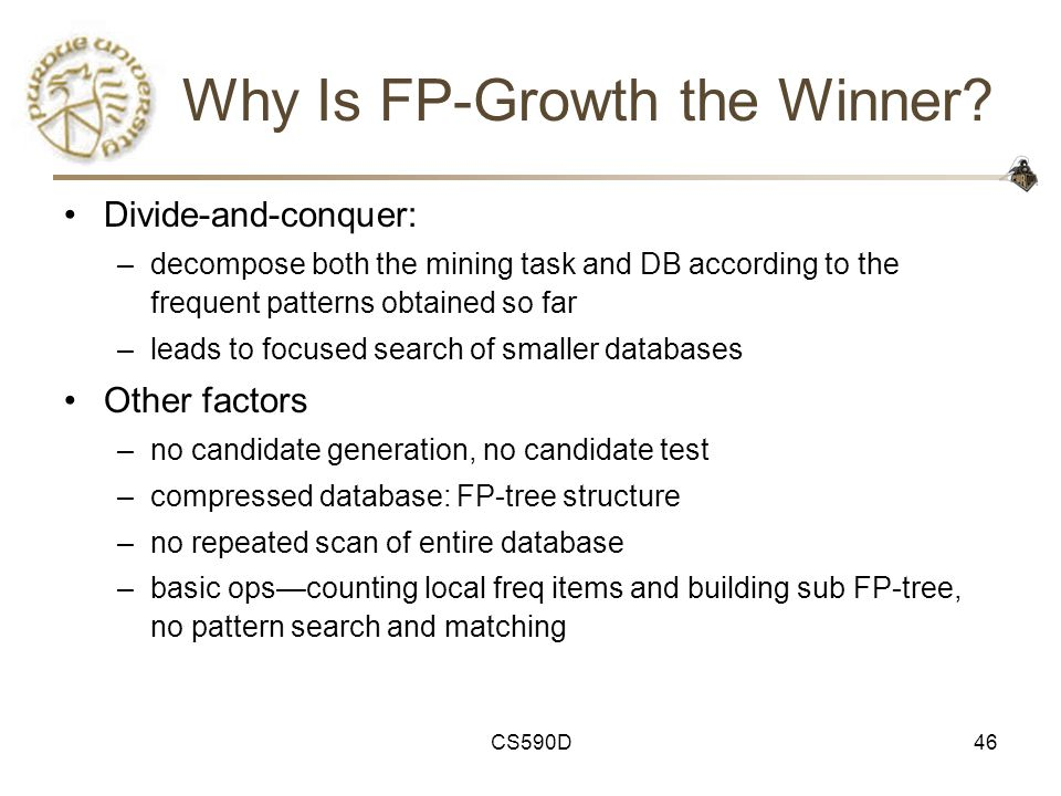 CS590D46 Why Is FP-Growth the Winner.