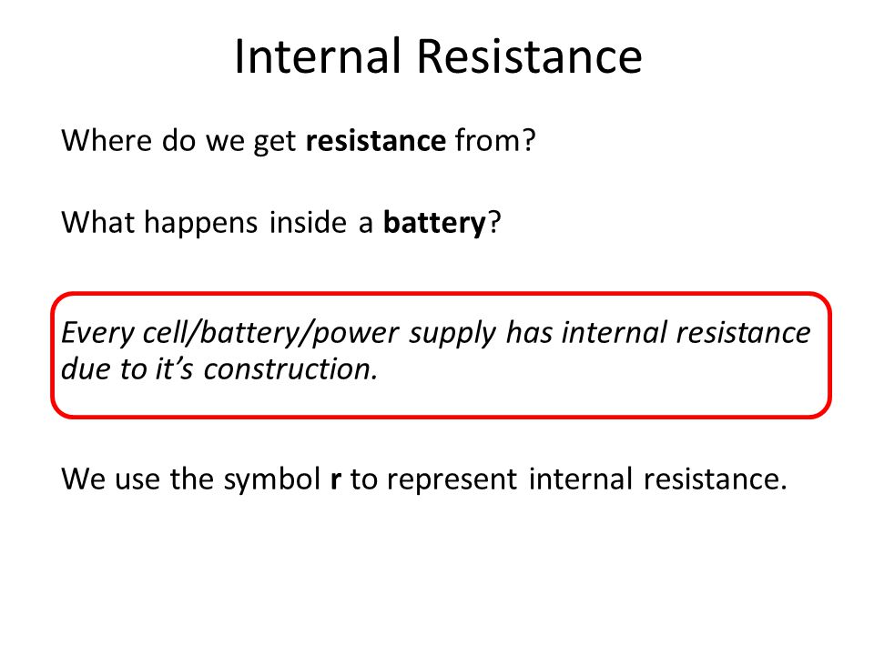 What Are We Doing Today Internal Resistance Emf Using A Graph To