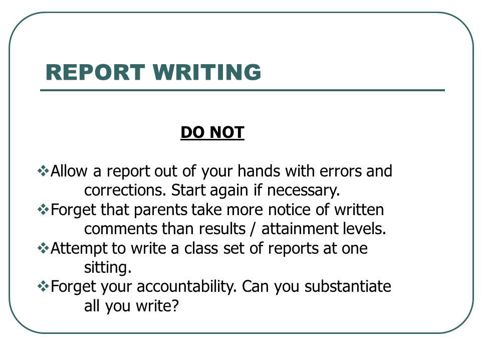 report format essay