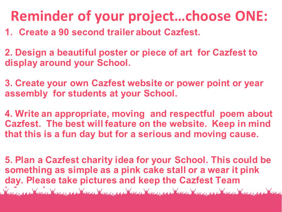CazfestLesson Lesson  Charity Begins At Home A Knowledge