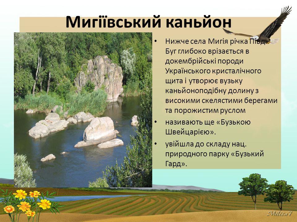 Мигіївський каньйон Нижче села Мигія річка Півд.
