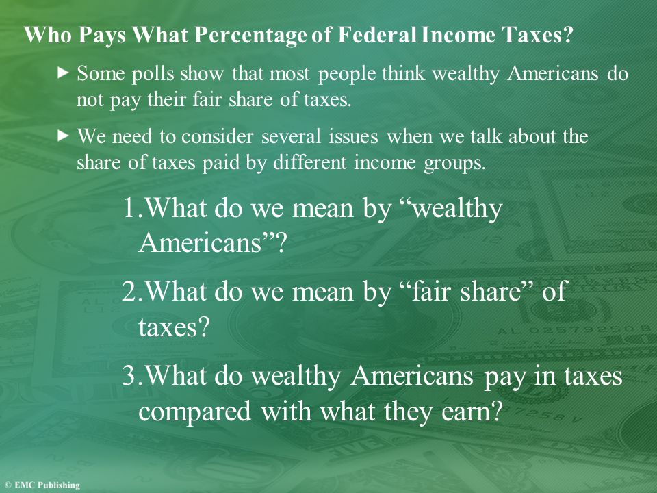 Who Pays What Percentage of Federal Income Taxes.