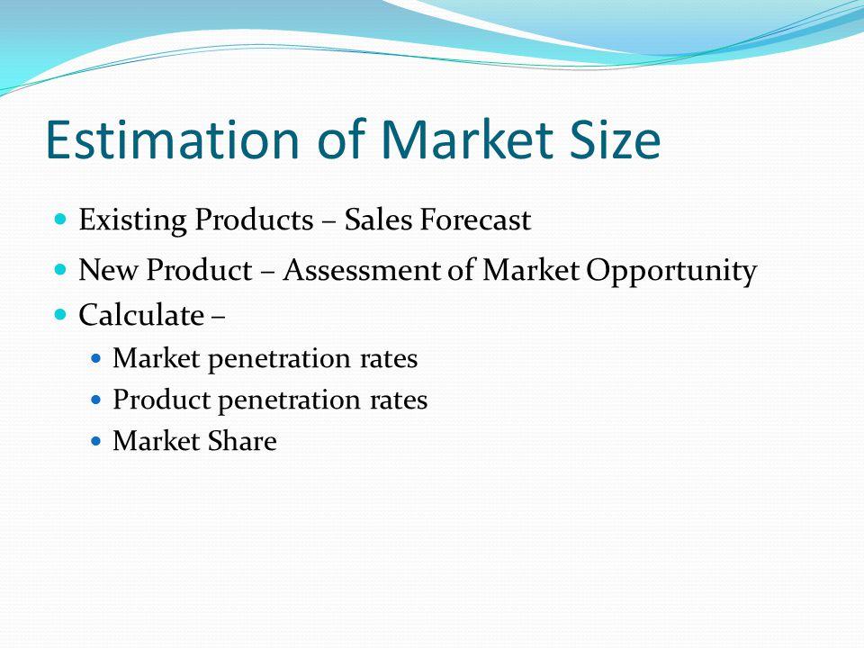 Calculating market penetration