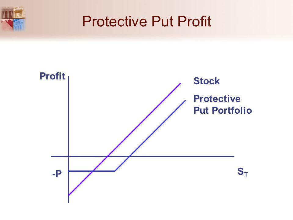 Protective Put Profit STST Profit -P Stock Protective Put Portfolio
