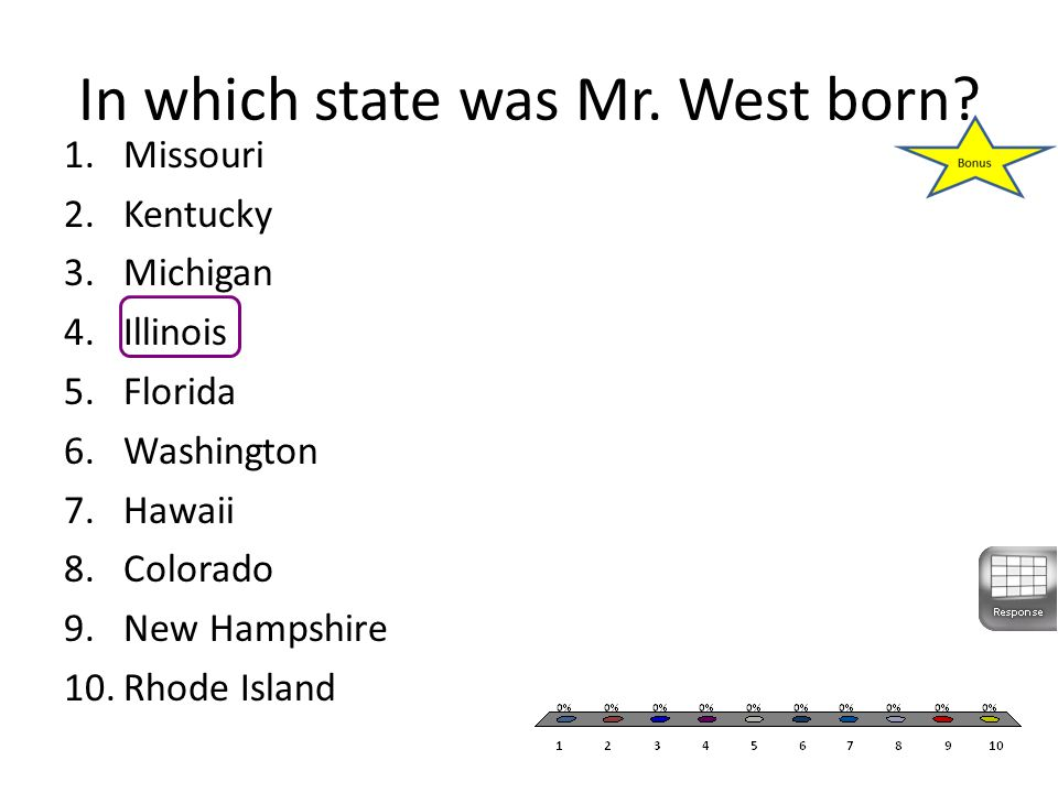 In which state was Mr. West born.