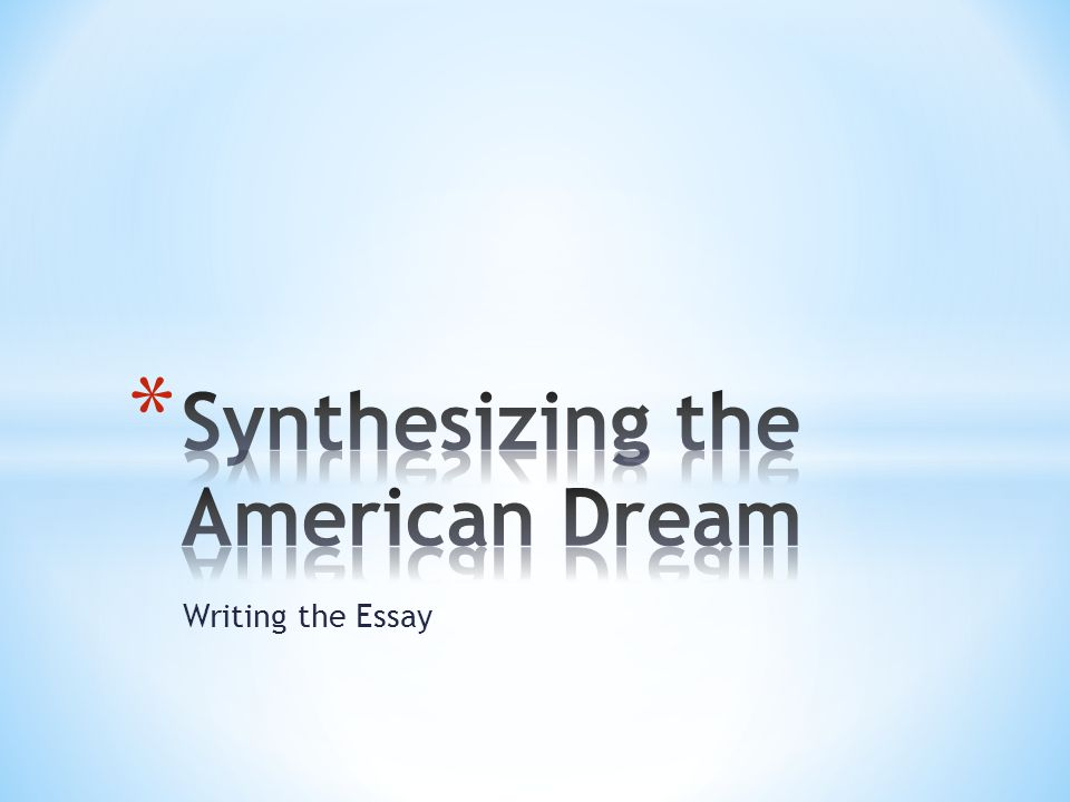 Definition essay on american dream