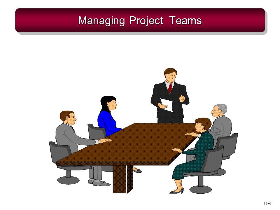 11–1 Managing Project Teams