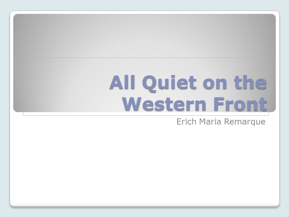 all quiet on the western front essay prompts