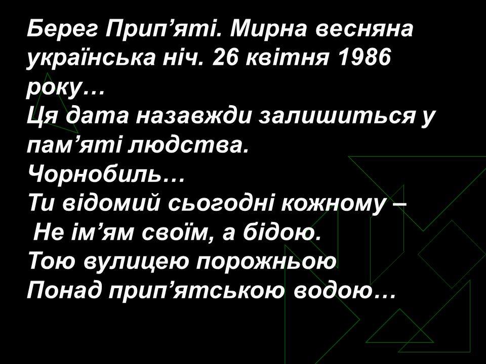 Берег Прип'яті. Мирна весняна українська ніч.
