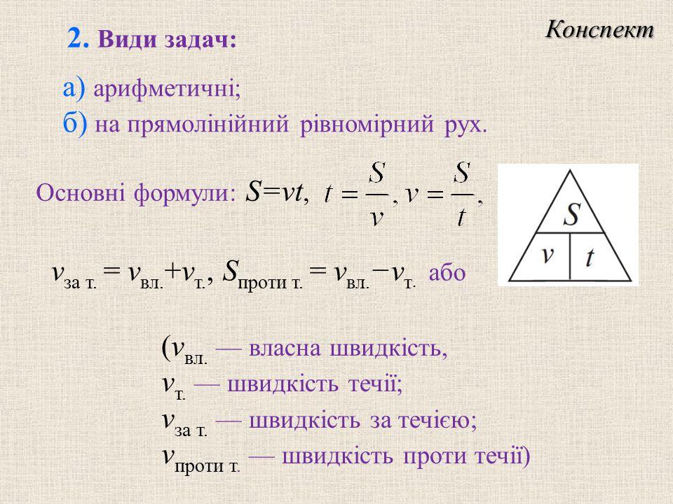 а) арифметичнi; б) на прямолiнiйний рiвномiрний рух.