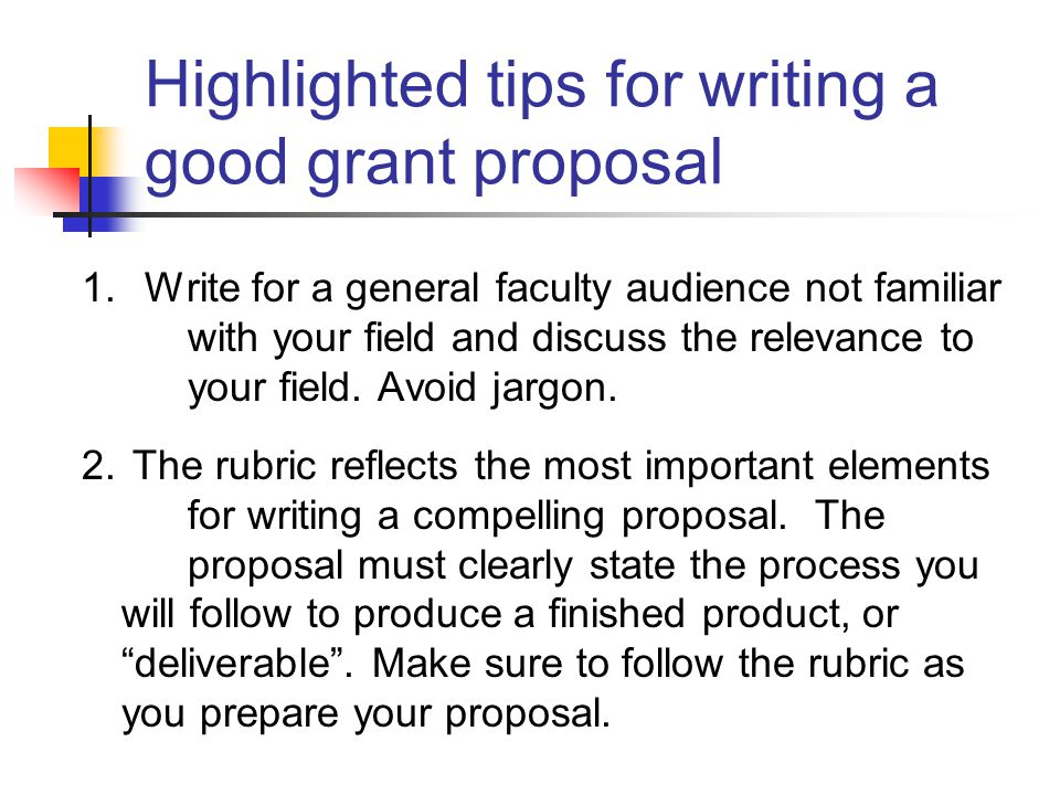 Presents A Proposal For Discussion