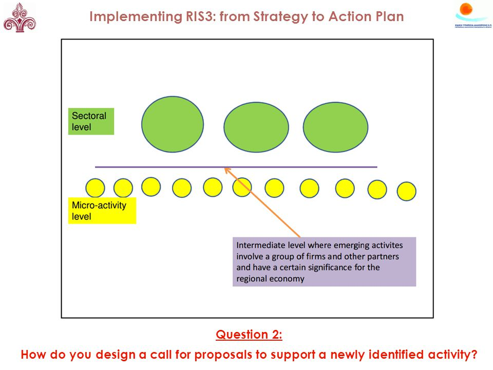 Question 2: How do you design a call for proposals to support a newly identified activity