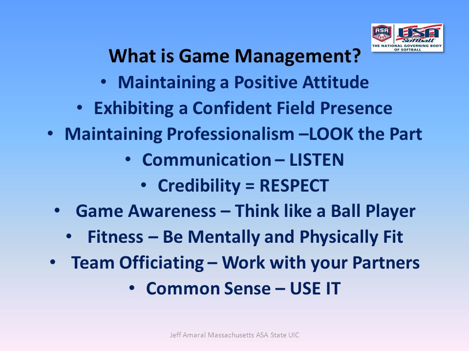 What is Game Management.