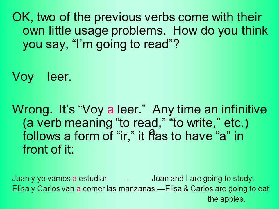 Irregular Verbs I. All of the following verbs are irregular. Some ...