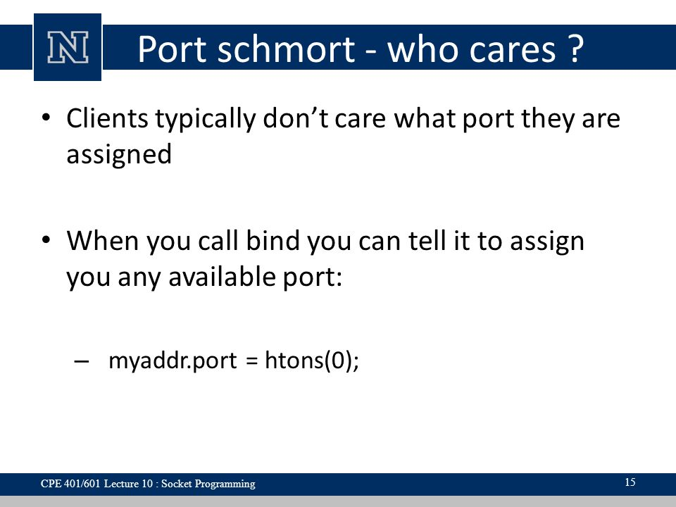 Port schmort - who cares .