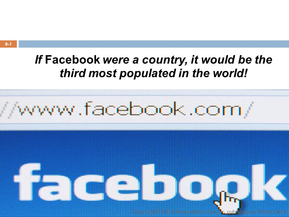 If Facebook were a country, it would be the third most populated in the world.