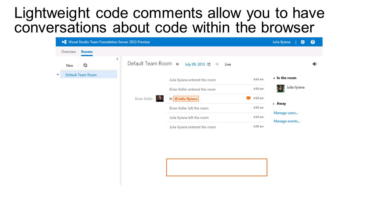 Lightweight code comments allow you to have conversations about code within the browser