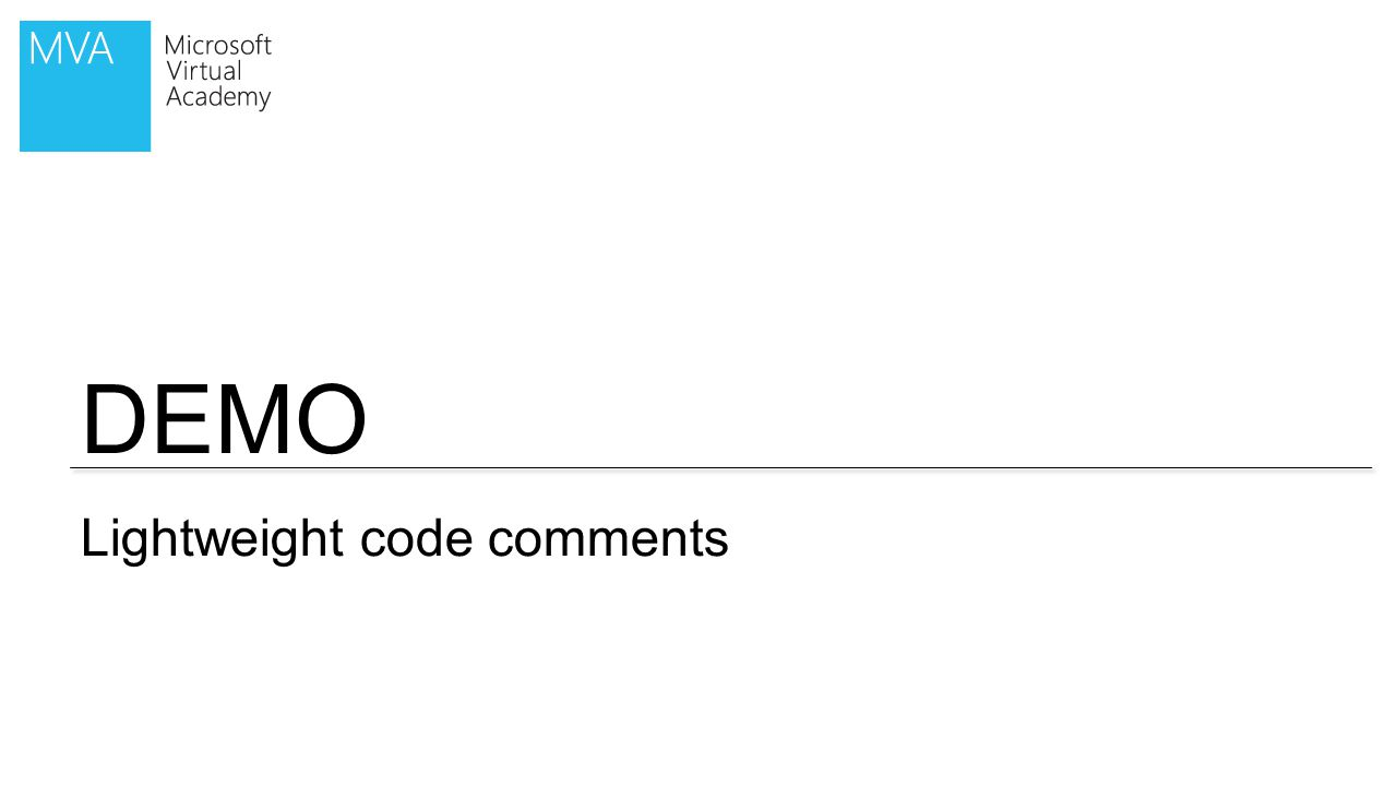 DEMO Lightweight code comments