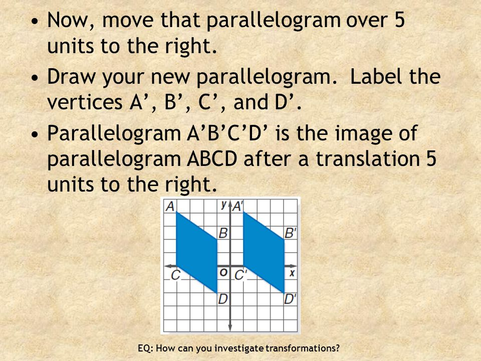 Now, move that parallelogram over 5 units to the right.