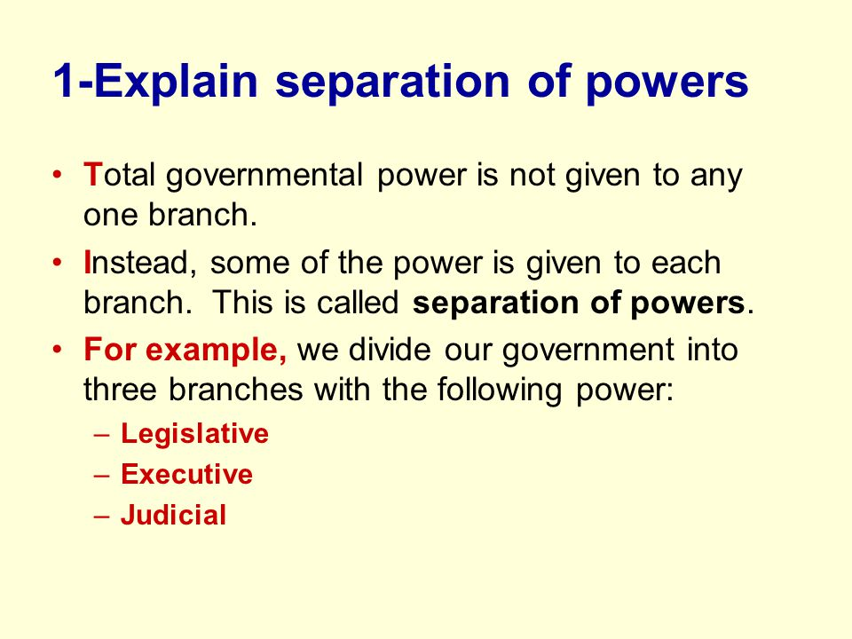 separation of powers and a n island Essay about separation of powers and paradise island the country and it also states peoples right with in the country as well.
