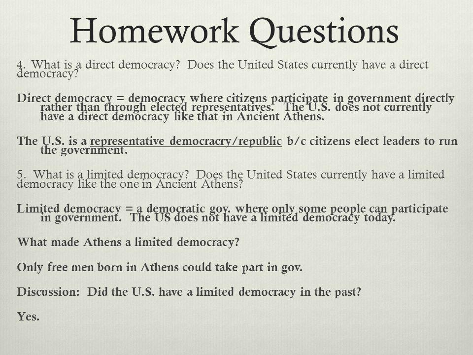 Ancient greece homework
