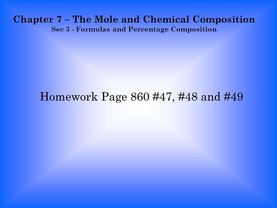Percentage homework