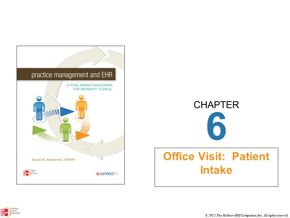CHAPTER © 2012 The McGraw-Hill Companies, Inc. All rights reserved. 6 Office Visit: Patient Intake