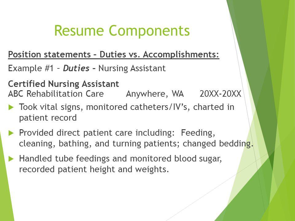 Cna job duties