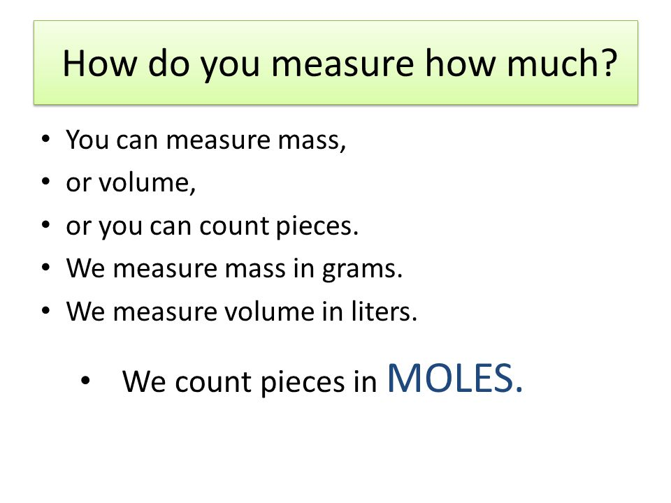 The Mole Concept Avogadro's Number = x 10 23