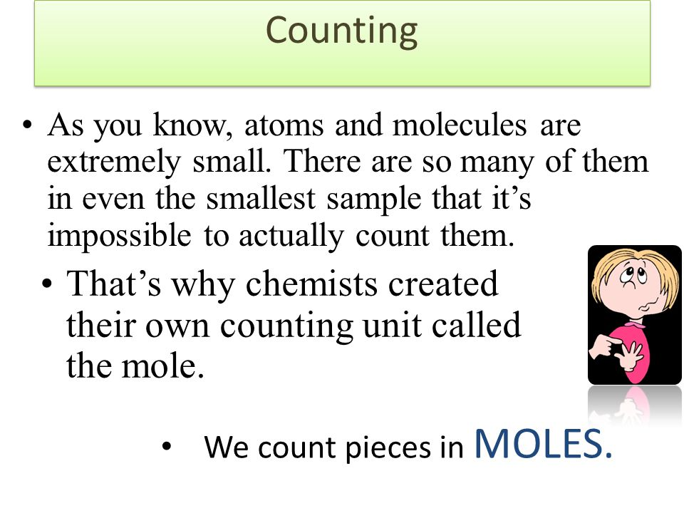Counting Counting words are used to simplify a description of a number of items.