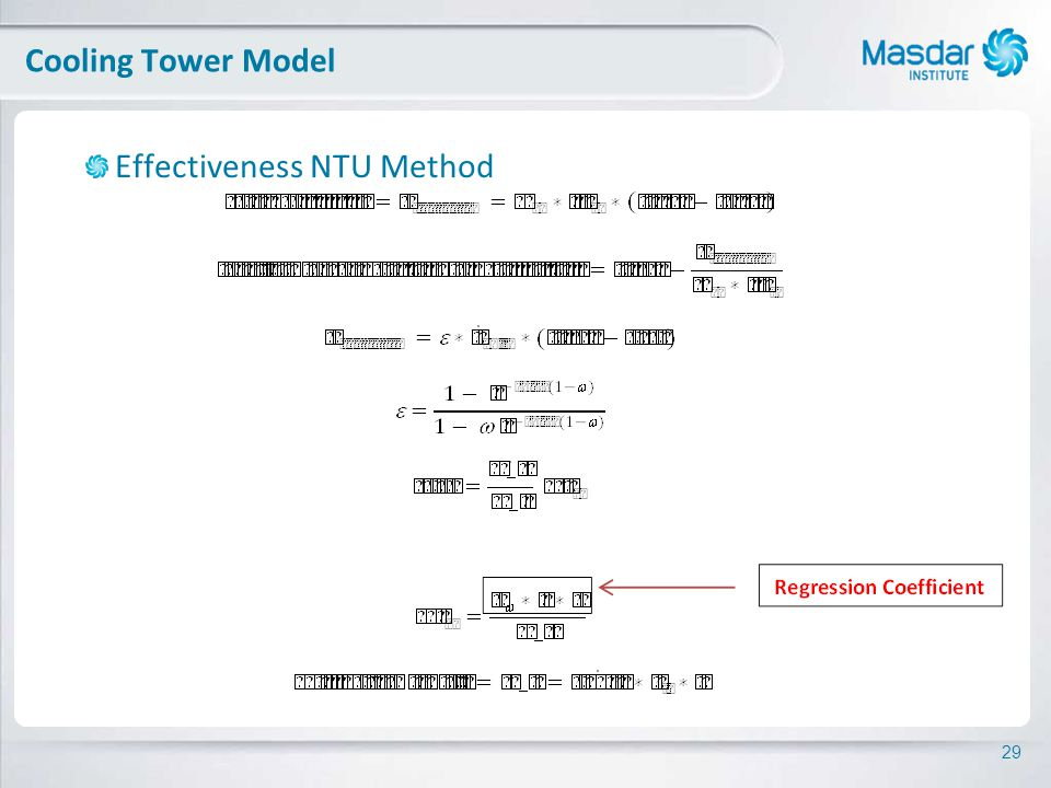 29 Effectiveness NTU Method Cooling Tower Model