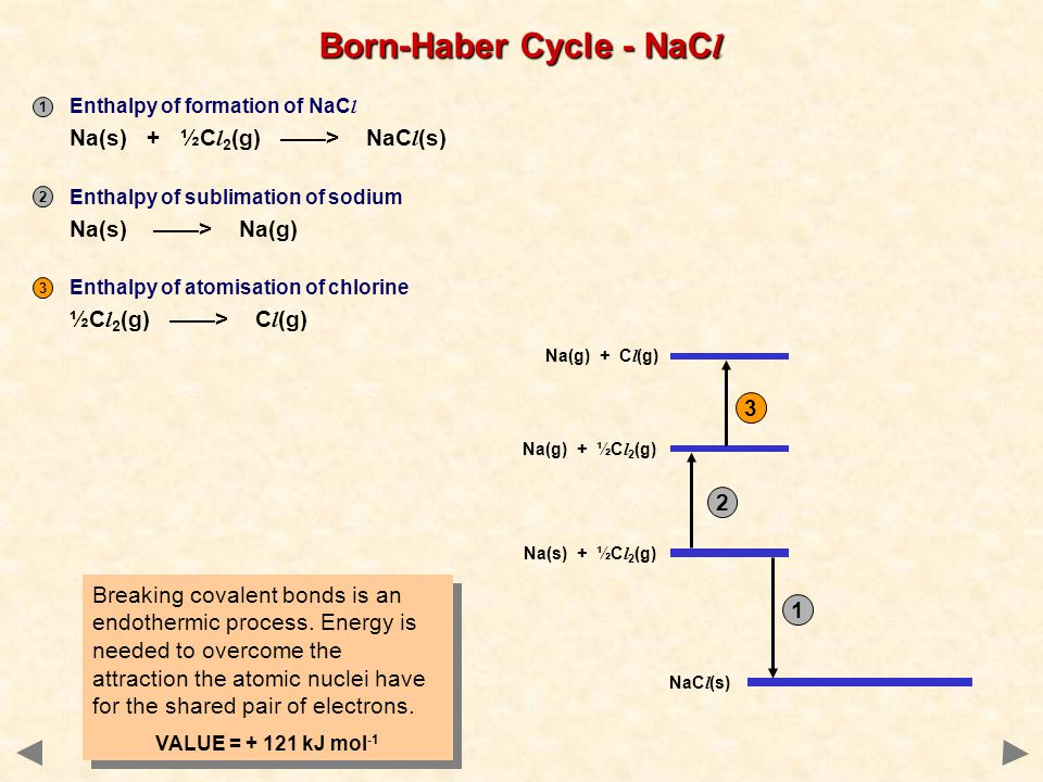 1 3 2 Breaking covalent bonds is an endothermic process.
