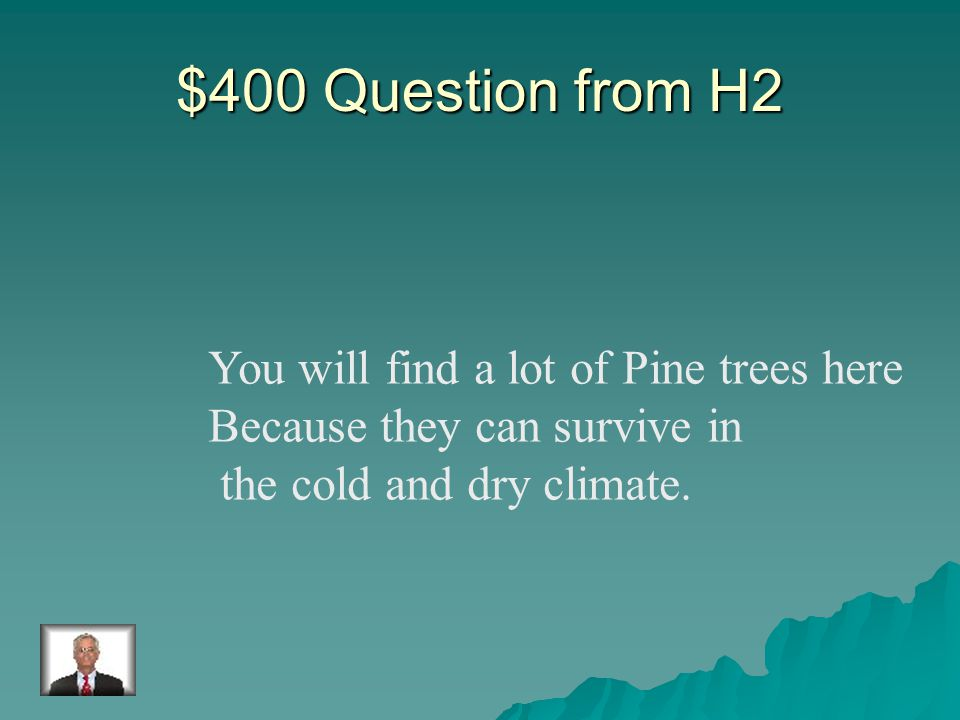 $300 Answer from H2 Rainforest