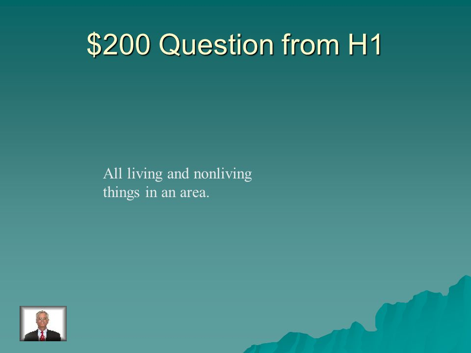 $100 Answer from H1 habitat