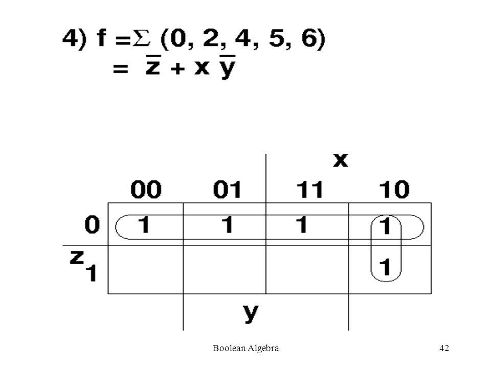 Boolean Algebra41