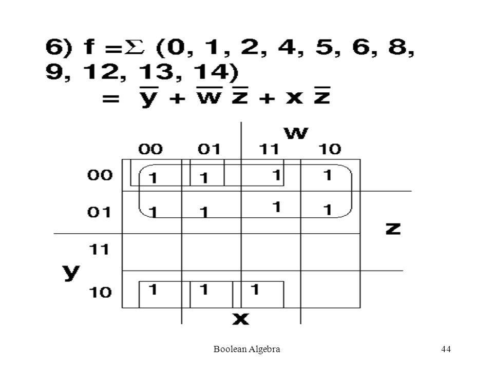 Boolean Algebra43
