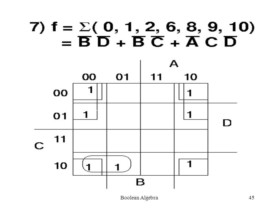 Boolean Algebra44