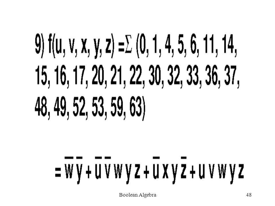 Boolean Algebra47