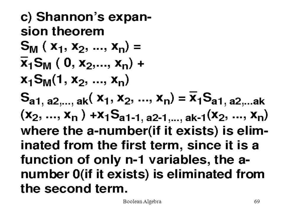 Boolean Algebra68