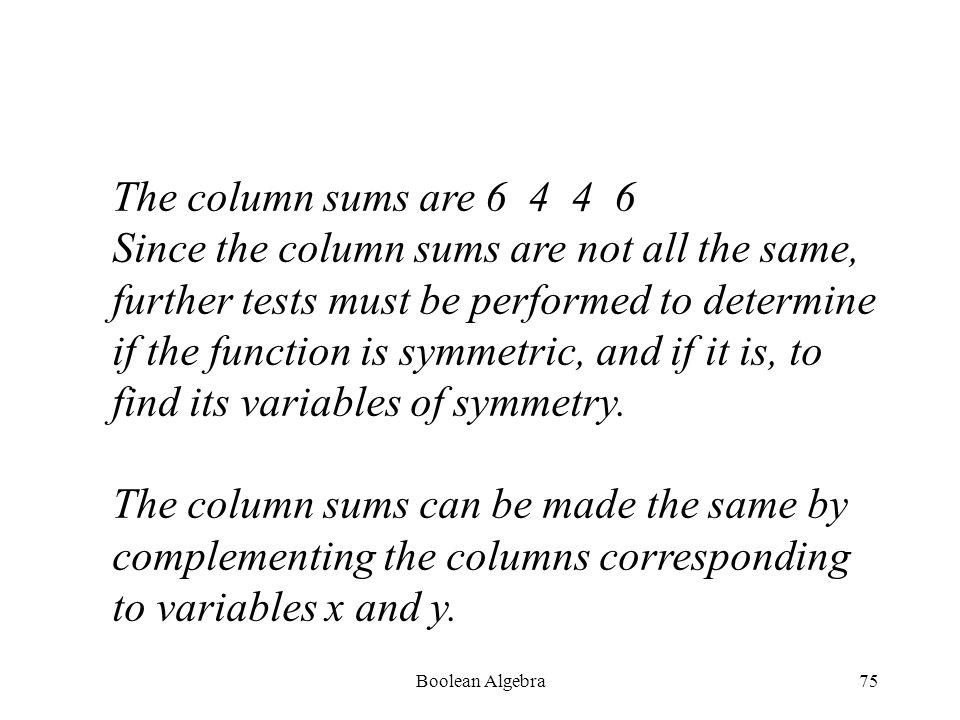 Boolean Algebra74