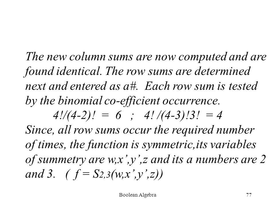 Boolean Algebra76