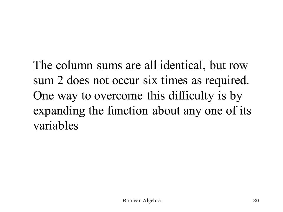 Boolean Algebra79