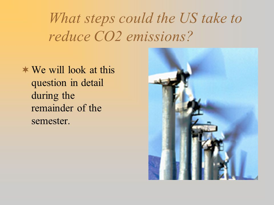 What steps could the US take to reduce CO2 emissions.