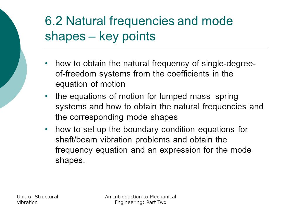 key points mechanical engineering