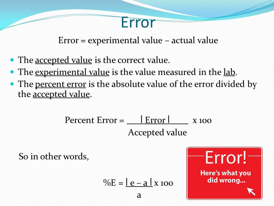 experimental errors