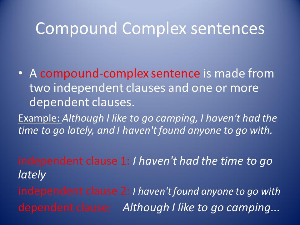 Complex Sentences?